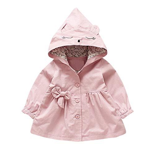 cinnamou Kleinkind Baby Mädchen Cartoon Jacke Oberbekleidung niedlichen Ohren Hoodie Kleidung Mantel