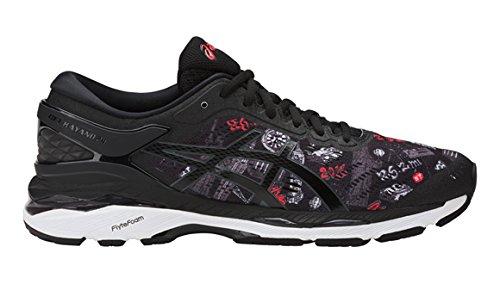 Asics Zapatillas de Running de Tela, Sintético Para Hombre, Color Negro, Talla 46.5