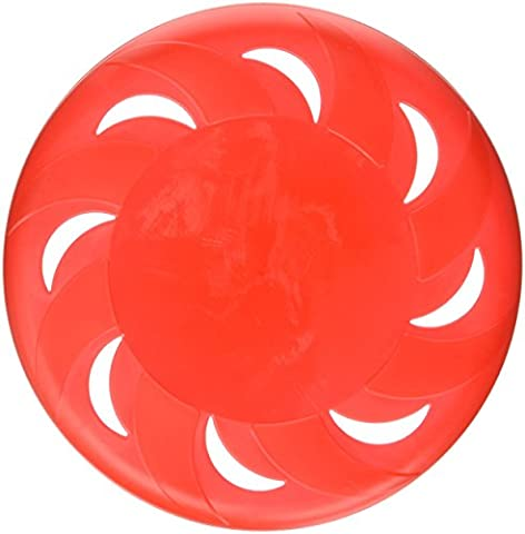 Uxcell Plastic Hollow Out Pet Moon Training Flyer Disc Frisbee Toy, 9.1-Inch Diameter, Red
