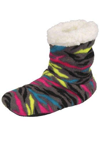 Capelli New York Damen Hausstiefel 'Fancy Zebra', Groesse:35-38, farbe:grey combo