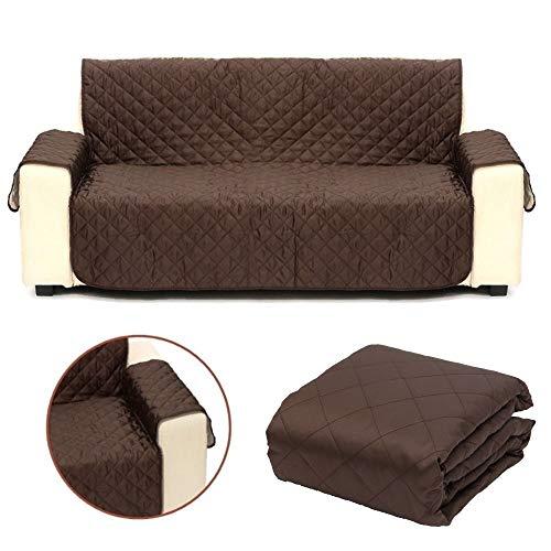 Hundedecke für die Couch und Sofa wasserabweisend und knitterfrei Sofaschutz für Hunde in DREI verschiedenen Größen in Dunkelbraun (L (Dreisitzer))