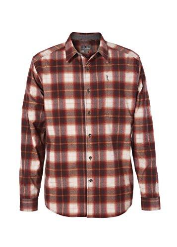 Royal Robbins Herren Merinolux Flannel Long Sleeve Oberteil, Red Rock, S -