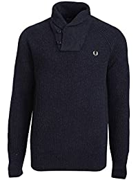 PULL FRED PERRY FISHERMAN BLEU