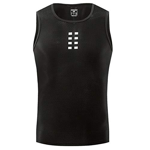 Ärmelloses Herren-Unterhemd, Radfahren Base Layer Bike-Oberteil Atmungsaktiv Superlight Moisture Wicking,M (ärmelloses Basketball-unterhemd)
