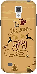 The Racoon Lean Gold Be Jolly hard plastic printed back case / cover for Samsung Galaxy S4 Mini