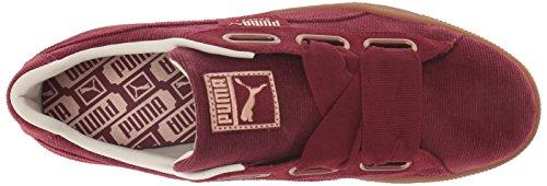 PUMA Women s Basket Heart WN s Sneaker  Pomegranate-Pomegranate  5 5 M US