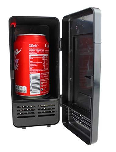United Entertainment - USB Schreibtisch Kühlschrank mit LED Licht - Schwarz (Schreibtisch-kühlschrank)