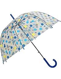SMATI Paraguas largo transparente forma de campana - automático-Puntos coloreados