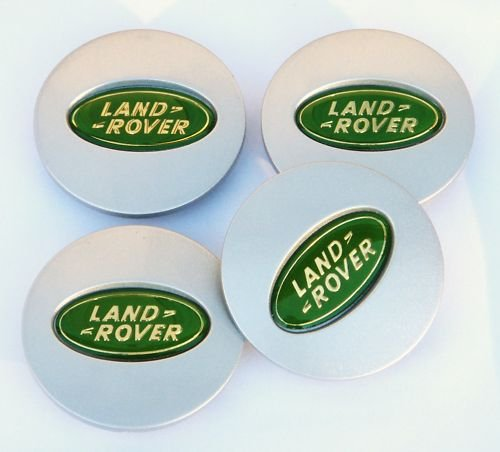 4-x-green-silver-60mm-land-rover-range-rover-freelander-discovery-alloy-wheel-centre-caps-badges-emb