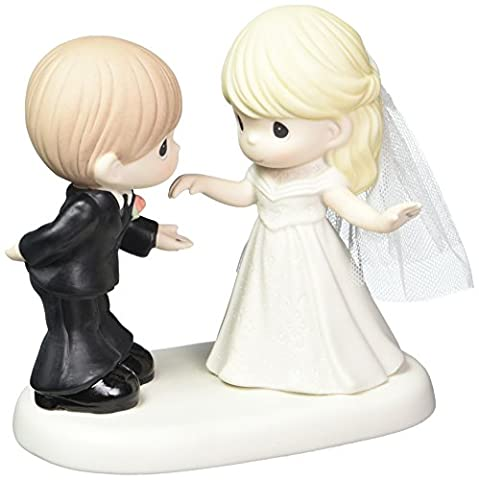 Precious Moments Wedding Gifts May I have This Dance for The Rest of My Life Bisque Porcelain Figurine