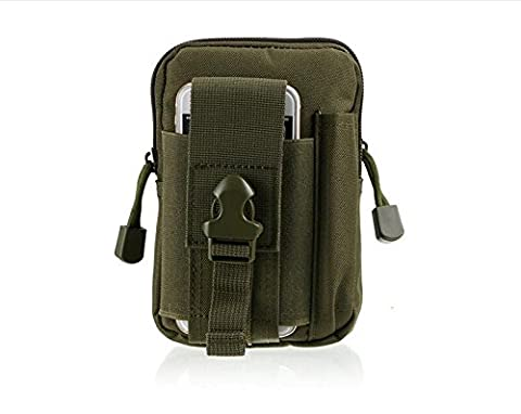 MOACC poches tactique sac Taille multifonction Compact Extérieur utilitaire Étui Vélo Camping Randonnée Voyage universel compatible Armée poches, ArmyGreen