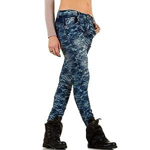 Damen Jeans, MOZZAAR CAMOUFLAGE HÜFT SKINNY JEANS, KL-J-C705