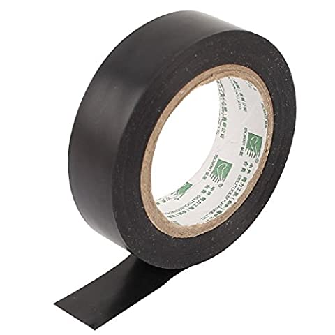 Black PVC Insulated Self-adhesive Electrical Tape Roll 9M 30Ft