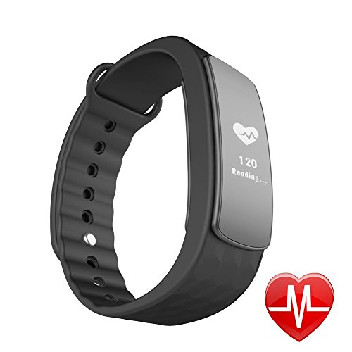 LINTELEK Fitness Tracker d'Activité Cardio Smart Bracelet Connecté Sport Fitness Montre Cardio Montre Connectée Sport Etanche IP67 Bluetooth 4.0, Tracker Sommeil Montre Podomètre Calories Bracelet Intelligent Rythme Cardiaque Alertes Appel SMS, Pour Android iPhone
