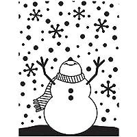 Darice Carpeta de estampación con diseño muñeco de Nieve, Plastic, 10.8 x 14.6 cm