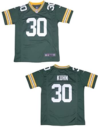 NFL Green Bay Packers Kuhn #30 Youth Athletic Short Sleeve Jersey M/10-12 Green
