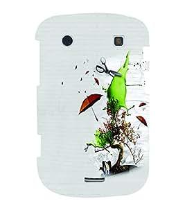 PrintVisa Cute Cartoon Save Nature 3D Hard Polycarbonate Designer Back Case Cover for Blackberry 9900