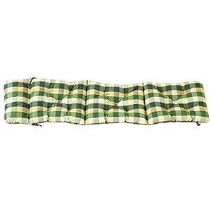 Ambientehome Deckchair Auflage für Liege, kariert grün, ca 195 x 49 x 8 cm, Polsterauflage, Kissen