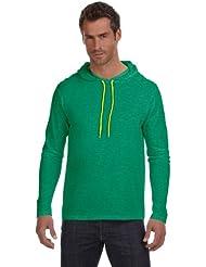 Amboss leicht langen Ärmeln Kapuzen T-Shirt
