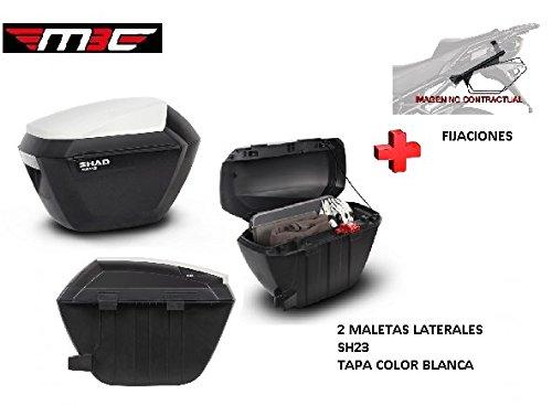 KIT SHAD fijacion+ maletas laterales tapa blanca SH23
