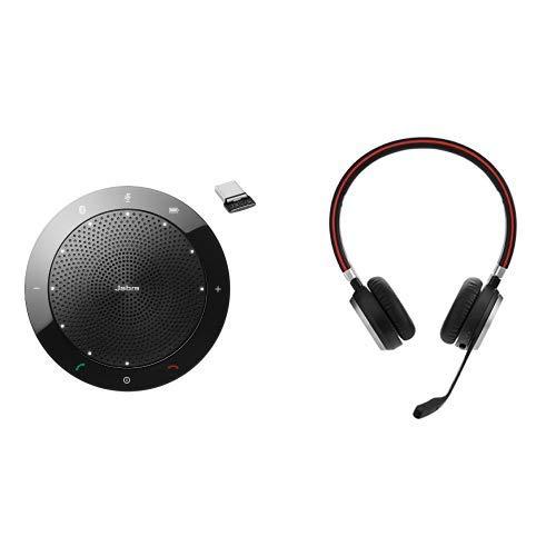 Jabra Speak 510+ MS Bluetooth-Freisprecheinrichtung für Microsoft zertifiziert inkl. Link 360 Bluetooth-USB Nano Dongle & Höhere Mobilität mit freien Händen: Erreichbar bleiben mit 30 Meter Bluetooth -