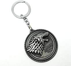 Eskube Silver Game Of Thrones Winter Is Coming Keyring and Keychain,(silver,silver)