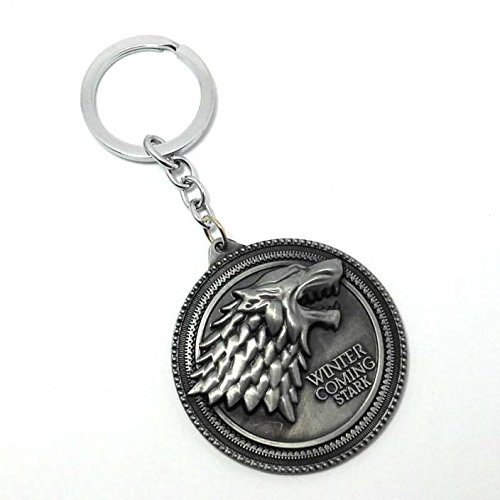Eskube Silver Game Of Thrones Winter Is Coming Keyring & Keychain 41ETcCbokGL