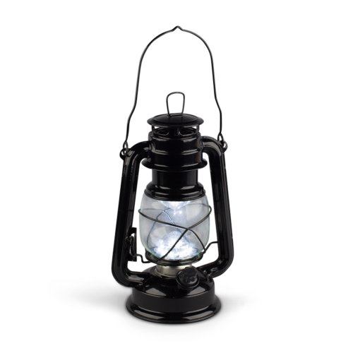 Gerson 9-Inch Black Metal 15 LED Hurricane Lantern with Dimmer Switch by Gerson