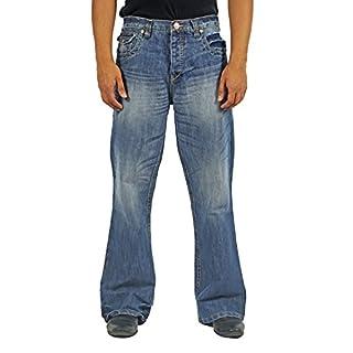 APT Mens Classic Bootcut Flared Wide Leg Denim A41 Jeans