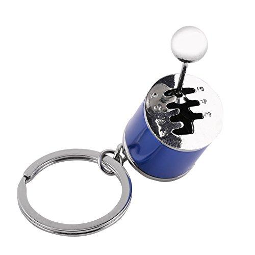 Jumbo Warenkorb (Qiterr Shifter Keychain, Kreatives Auto-Gang-Modell-Schlüsselring-Auto-Teil geformte Metalllegierungs-Schlüsselringe (Blau))