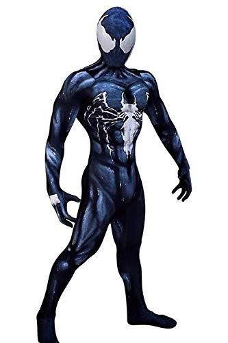 Karnestore Sperheld Venom Symbiote Spider-Man Lycra Zentai Spidey Jumpsuit Cosplay Kostüm Herren (Spidey Kostüme)