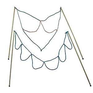 2 Paar Stäbe Riesenseifenblasen Loop / Multi-Loop groß, Holz (90cm lang) Seifenblasen Set Kidzmedia