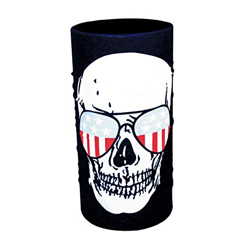 ZaPro HD Druck Premium - Multifunktionstuch - Verschiedene Designs Bedrucktes Halstuch Motorrad Sommer Frühling Totenkopf Skull Fastnacht Bunt Maske Joker Buff Tuch Venom (American Glasses)