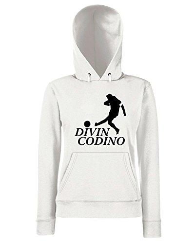 T-Shirtshock - Sweats a capuche Femme TUM0211 baggio DIVIN CODICO Blanc