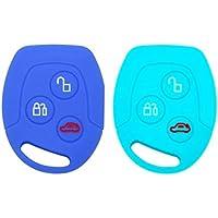 YLC 2 Piezas Silicona Funda para Llave de Coche Car Key Cover para Ford Mondeo Festiva