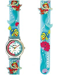 Ravel Mermaid 3D Watch with Timeteacher Dial Children's Quartz Watch with White Dial Analogue Display and Multicolour Plastic Strap R151365