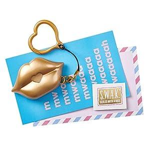 SWAK 4114 S.W.A.K. Kissable Kissable Kissable 1 - Llavero con Cadena, Color Dorado