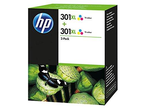 HP Original Tinte passend DeskJet 2544 301XL D8J46AE - 2X Premium Drucker-Patrone - Cyan, Magenta, Gelb - 2x330 Seiten - 2x8 ml