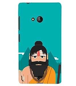 PRINTSHOPPII FUNNY SADHU Back Case Cover for Lumia Lumia 540::Microsoft Lumia 540