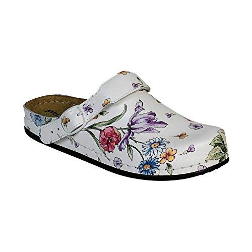 AWC-Footwear Deko-Line - Blumenmuster, Unisex Arbeitsschuhe, Mehrfarbig (mehrfarbig mehrfarbig), 41 EU (7.5 UK)