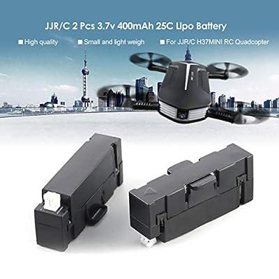 Detectoy Original JJR/C 2Pcs 3.7v 400mAh 25C Lipo Battery for Original JJR/C JJRC H37 Mini GoolRC T37 Mini RC Drone Quadcopter
