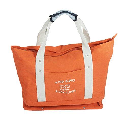 Fletion Damen Umhängetasche Hohe Kapazität Tragbar Reisetaschen Wasserdichte Tasche Segeltuch Handtasche Gepäcktasche Einkaufstasche für Hause Einkaufen,Reisen