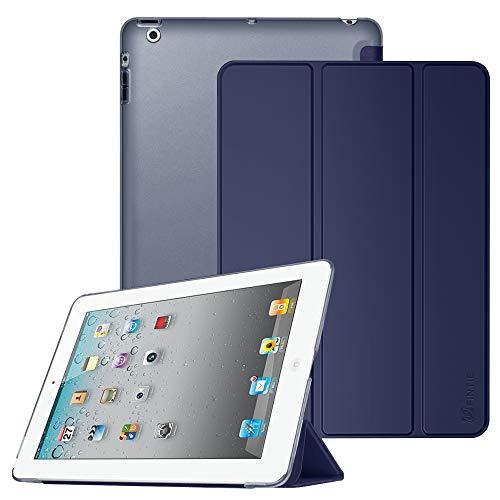 Fintie iPad 2/3 / 4 Hülle - Ultradünne Superleicht Schutzhülle mit transparenter Rückseite Abdeckung Cover mit Auto Schlaf/Wach Funktion für Apple iPad 2 / iPad 3 / iPad 4 Retina, Marineblau
