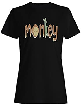 Animales divertidos felices de la novedad del mono camiseta de las mujeres d613f