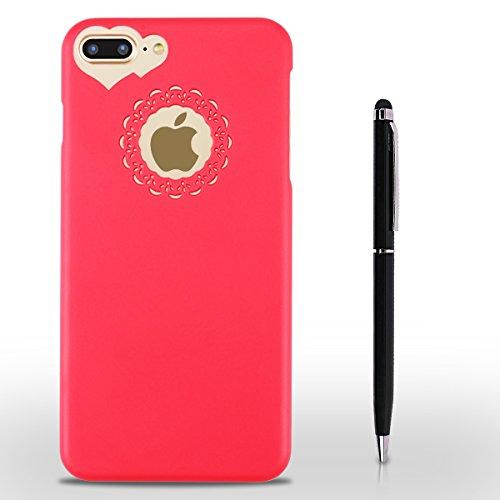 iPhone 7 Plus Hülle, SpiritSun Transparent Schutzhülle für Apple iPhone 7 Plus Hülle (5.5 Zoll) PC Hart Handyhülle Extrem Dünne Bumper Cover mit Stylus Pen - Violett Gelb