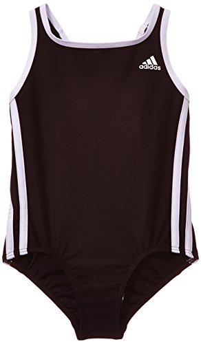 adidas I 3S 1Pc Y - Bañador para niña, color negro / blanco, talla 98