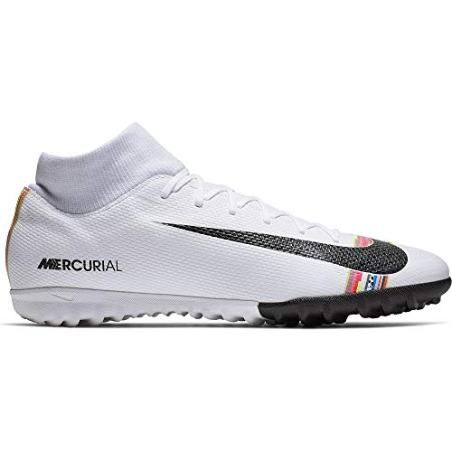 Nike Superfly 6 Academy Tf, Scarpe da Calcetto Indoor Unisex-Adulto, Multicolore (White/Black/Pure Platinum 000), 44 EU