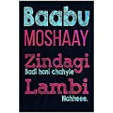 Paper Plane Design Babu Moshay Posters For Room Inspirational Poster Motivational Funny Quotes Size Of (A3 Size 12 In X 18 Inch)