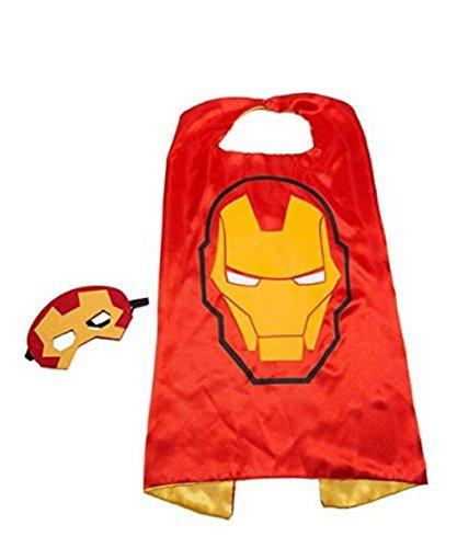 Mr Gadget Solutions® Premium Qualität Super Maske und Umhang Kostüm Set für Kinder (Iron Man)