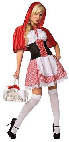 Damen Sexy Rotkäppchen Märchen Kostüm Kleid Outfit UK -